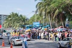 Racing circle in Bangsan beach Stock Photography