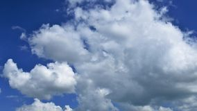 Racing clouds stock footage