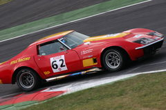 Racing corvette. FIA Historic gt and prototype Race, held in Monza, Italy, the 6th of june 2010. The photo has been shooted at the Prima Variante curve Royalty Free Stock Photos