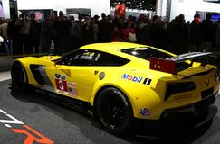 Racing Corvette at the auto show Stock Photography