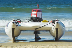 Racing Craft on Beach Royalty Free Stock Photos