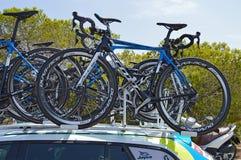 Racing Cycles Stock Photography