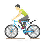 Racing cyclist in action vector illustration. Stock Images