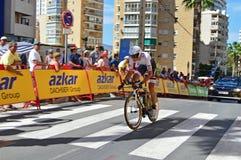 Racing Cyclist Team FDJ Stock Photo