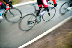 Racing cyclists Stock Images