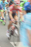 Racing Cyclists, Motion Blur Stock Images