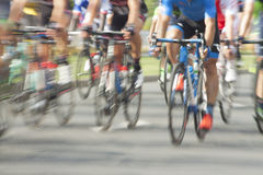 Racing Cyclists, Motion Blur Royalty Free Stock Photo