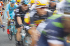 Racing Cyclists, Motion Blur Royalty Free Stock Image