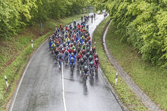 Racing cyclists at the race Rund um den Finanzplatz Frankfurt Royalty Free Stock Photography