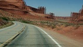 Racing through desert roadway. Video of racing through desert roadway stock video