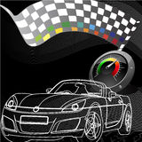 Racing design in black background Stock Photography