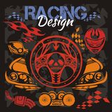 Racing design - vector elements for emblem. Stock Images