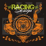Racing design - vector elements for emblem. Royalty Free Stock Image