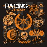 Racing design - vector elements for emblem. Stock Photography