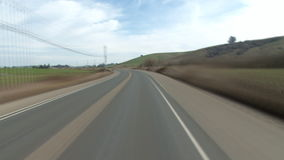 Racing down a country road. Video of racing down a country road stock video footage