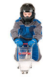 Racing driver shopping Stock Photography