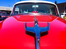 Racing with Eagles shown with this vintage hood ornament royalty free stock photos