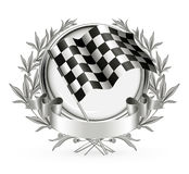 Racing Emblem. Computer illustration, isolated on the white Stock Images