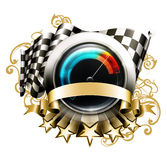 Racing emblem Royalty Free Stock Images