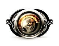 Racing emblem. Computer illustration on a white background Stock Images