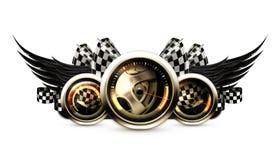 Racing emblem Stock Image