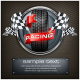 Racing emblem on black Royalty Free Stock Photography