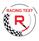 Racing emblem with a place for text Royalty Free Stock Photography