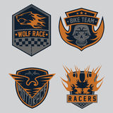 racing emblem set and design elements Royalty Free Stock Image