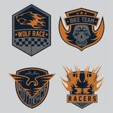 Racing emblem set and design elements Royalty Free Stock Image