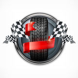Racing emblem on white Royalty Free Stock Images