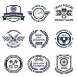 Racing emblems black Royalty Free Stock Photography