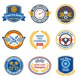 Racing Emblems Colored Royalty Free Stock Images