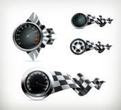 Racing emblems Royalty Free Stock Image