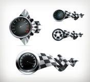 Racing emblems Royalty Free Stock Image