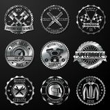 Racing emblems metallic Royalty Free Stock Image