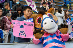 Racing Fans in Hong Kong Stock Images