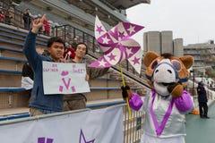 Racing Fans in Hong Kong Royalty Free Stock Photography