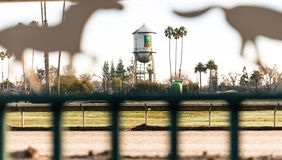 Racing field at Alameda County Fairground Royalty Free Stock Photos