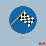 Racing finish flag flat design vector icon. Checkered racing flag flat design vector icon Royalty Free Stock Photo