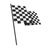 Racing finishing flag pictogram. Royalty Free Stock Photography