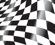Racing flag. Black and white checkered racing flag background vector illustration Stock Images