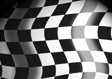 Racing flag. Background - Detail of black and white checked racing flag vector illustration
