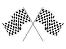 Finishing Checkered Flag Stock Photography