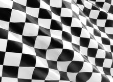 Racing Flag. Checkered racing Flag 3d rendering Royalty Free Stock Image