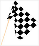 Racing flag. Checkered flag and flag pole. Photoshop rendered image Stock Photography