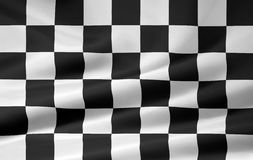 Racing Flag. Chequered flag rendered like a cloth. Very large image version Stock Photography