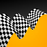 Racing Flag Background. Vector. Checkered Racing Flag Background with Space for Your Text. Vector illustration Royalty Free Stock Image
