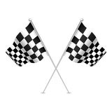 Racing flag (checkered flag) with nice shades. Stock Image