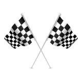 Racing flag (checkered flag) with nice shades. Stock Image