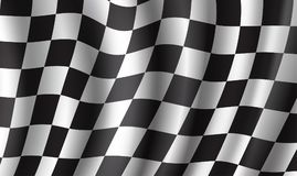 Racing flag 3d background for race sport design. Racing flag 3d illustration background. Race sport and rally competition checkered pattern of black and white Stock Photo